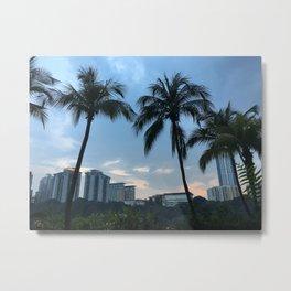 Palm trees at Sunway Lagoon Resort, Malaysia Metal Print