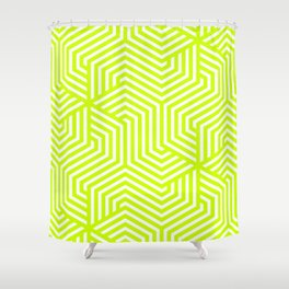 Electric lime - green - Minimal Vector Seamless Pattern Shower Curtain