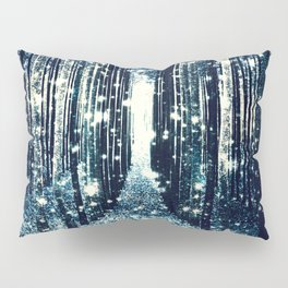 Magical Forest Teal Gray Elegance Pillow Sham