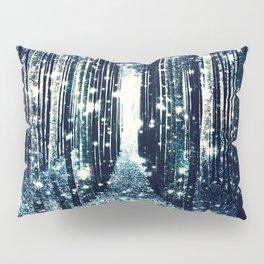Magical Forest Teal Gray Elegance Pillow Sham