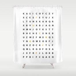 Wanna Hear A Secret Shower Curtain