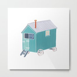 Little Shepherd Hut Metal Print