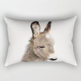 Baby Donkey, Baby Animals Art Print By Synplus Rectangular Pillow