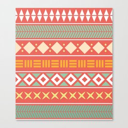 Etnic Color Pattern Canvas Print