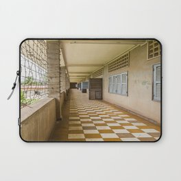 S21 Building C Walkway - Khmer Rouge, Cambodia Laptop Sleeve
