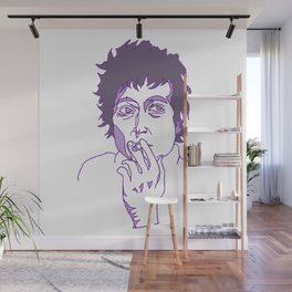 Purple Dylan by Roshan Wall Mural