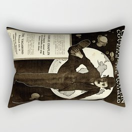 Charlie Chaplin Covers the World Rectangular Pillow