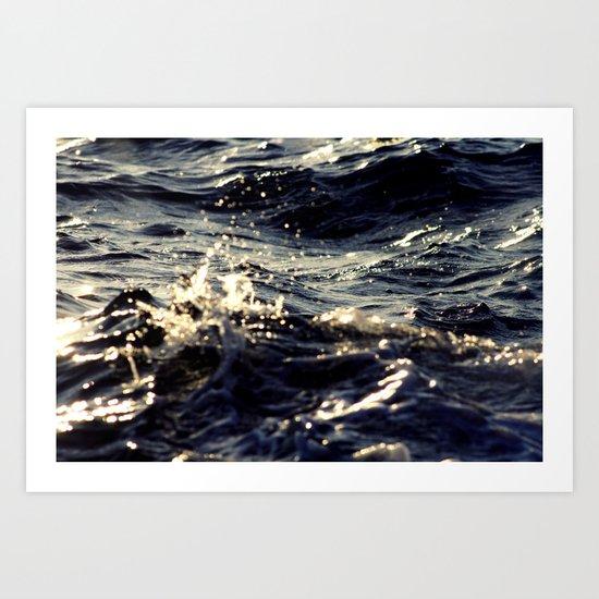 Colliding Seas Art Print