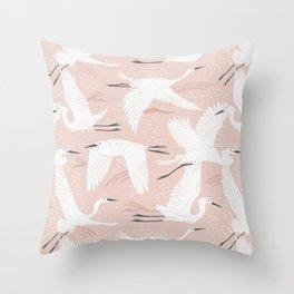 Soaring Wings - Blush Pink Throw Pillow