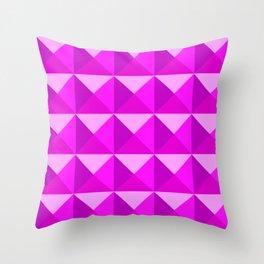 Pink Studs Throw Pillow