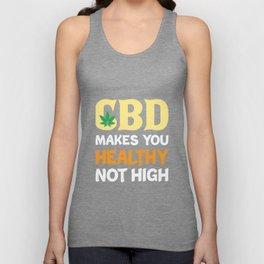 CBD Cannabidiol Oil Cannabis Medicine Gift Unisex Tank Top