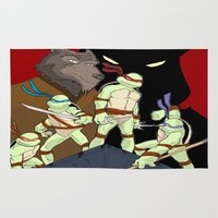 tmnt Area & Throw Rugs featuring TMNT by SquidInkDesigns