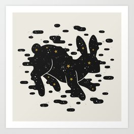 Lepus Consetellation Art Print