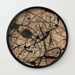 Pollock Inspired Cool Abstract Splatter Drip Art Painting - Corbin Henry Wall Clock