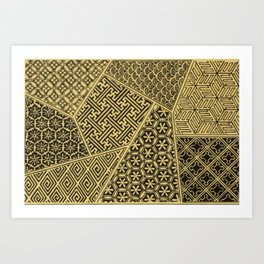 Japanese Patterns Art Print