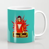 robin williams Mugs featuring Nanu Nanu  |  Mork  |  Robin Williams Tribute by Silvio Ledbetter