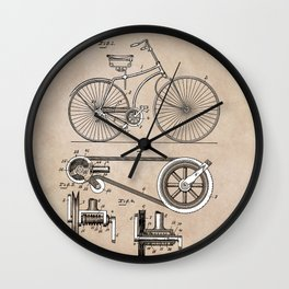 patent Bicycle 1890 Rice Wall Clock