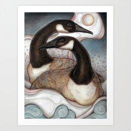 Canda Geese Art Print