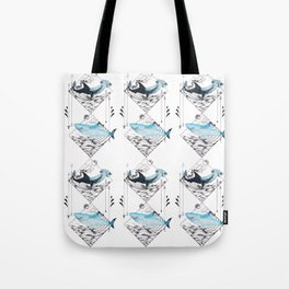 sharks on point Tote Bag