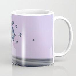 Blue water flower waterdrop Coffee Mug