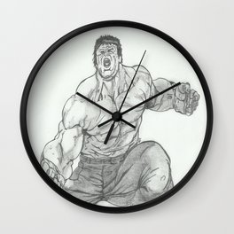 Hulk Smash. Wall Clock