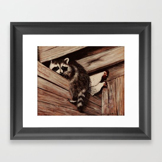 Ain't Nobody Here But Us Chickens (painting) Framed Art Print