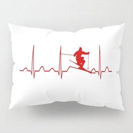 SKIING MAN HEARTBEAT Pillow Sham