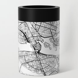 Stockholm White Map Can Cooler