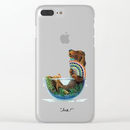 """Jerk!"" Clear iPhone Case"