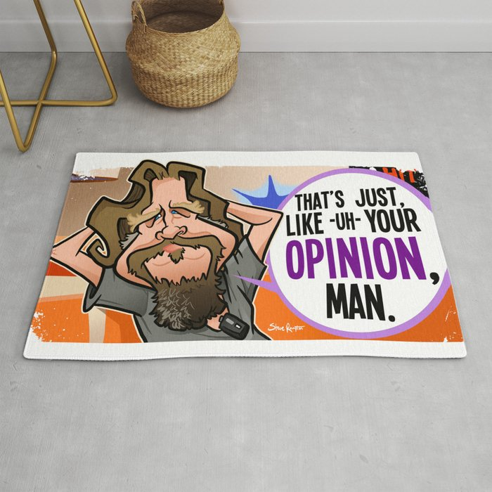 Your Opinion, Man Rug