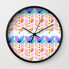Flower Infusion Wall Clock