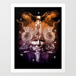 Psychedelic Shaman Art Print