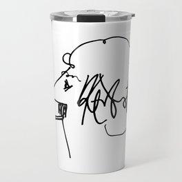 Vonnegut Self Portrait Artwork, Design for Wall Art, Prints, Posters, Tshirts, Bags, Women, Men, Kid Travel Mug