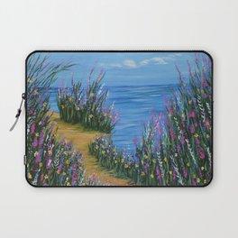 One Path, Ocean Seascape, Modern Impressionism, Beach Art Laptop Sleeve