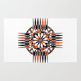 Geometric celtic cross Rug