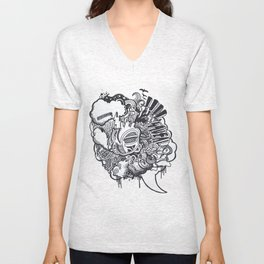 Heart Beat Unisex V-Neck