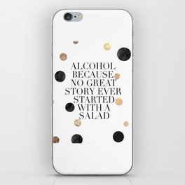 ALCOHOL BAR SIGN, Alcohol Quote,Drink Sign,Celebrate Life,Weeding,Anniversary,Home Bar Decor,Quote P iPhone Skin
