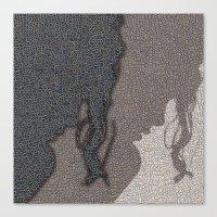 shadow Canvas Prints featuring Shadow by dominiquelandau