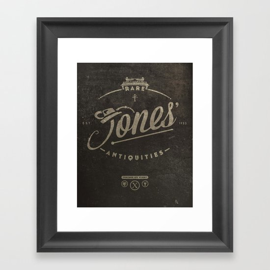 """Jones' Rare Antiquities"" - wall version Framed Art Print"