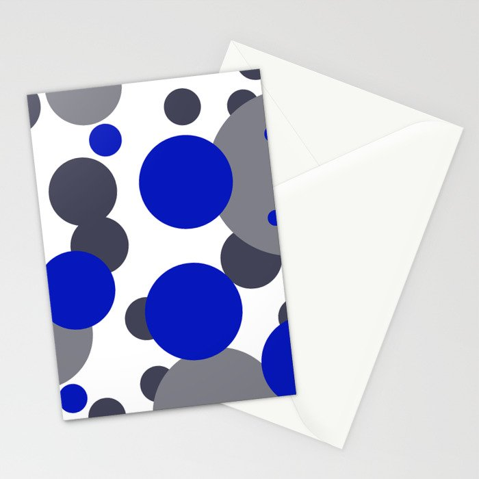 Bubbles blue grey- white design Stationery Cards
