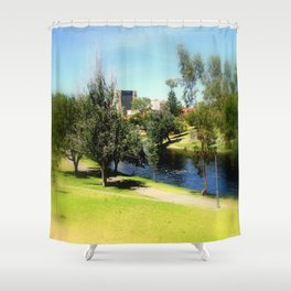 Adelaide Torrens River and CBD Shower Curtain
