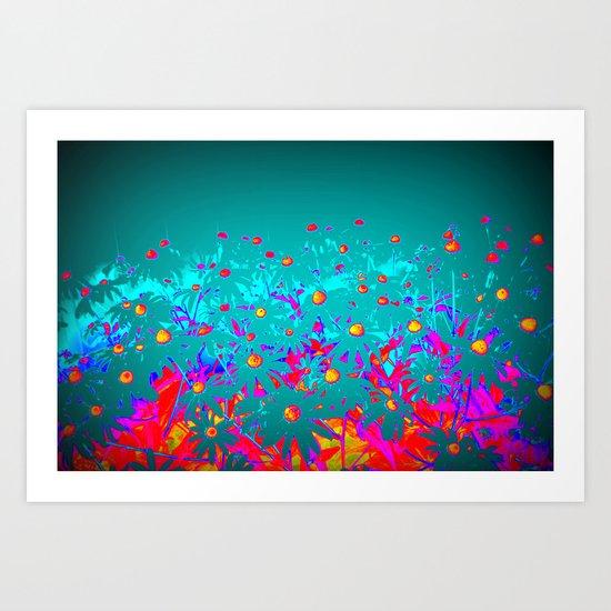 Faerie Garden Vignette | Flower | Flowers | Art Print
