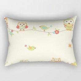 owl butterfly bird Rectangular Pillow