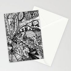 BLACK THOUGHTS  Stationery Cards