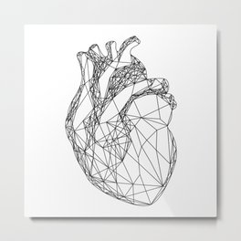 Geometric Heart Metal Print