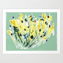 Minty Green Meadow Art Print