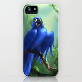 Moseley the Hyacinth Macaw iPhone Case
