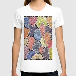 Grapes for wine lovers, gastronomy and restaurants T-shirt