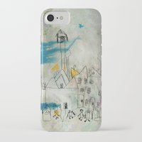 cityscape iPhone & iPod Cases featuring Cityscape by asarakai