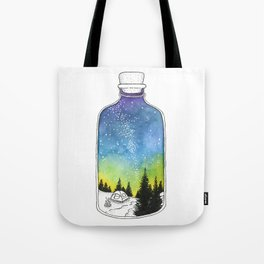 Bottled Summer: Corked Bottle Camping Tote Bag